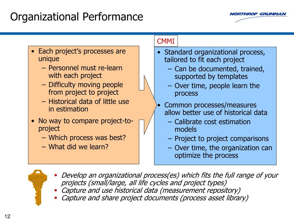 Standard organizational process, tailored to fit each project