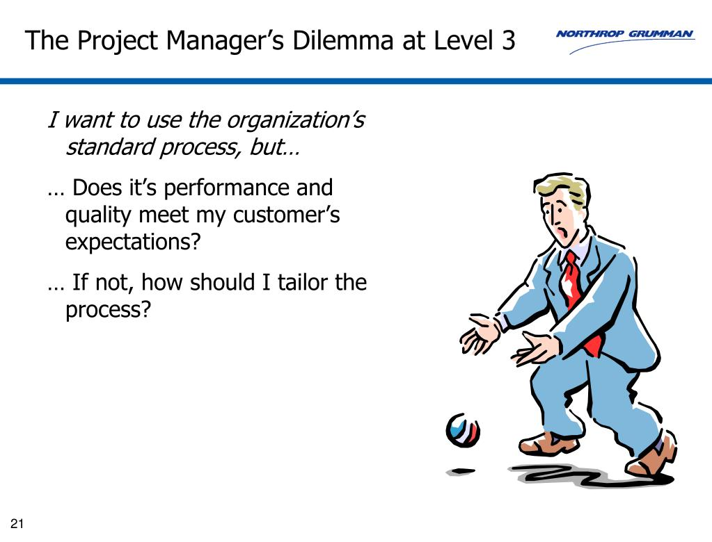 The Project Manager's Dilemma at Level 3