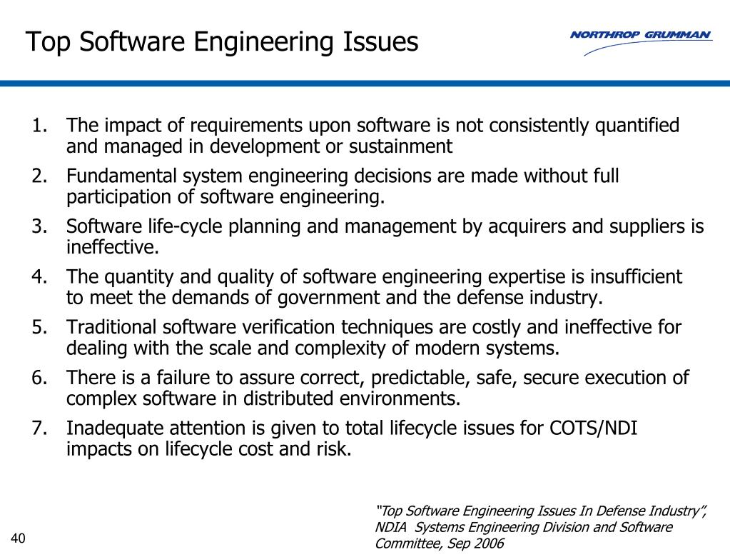 Top Software Engineering Issues