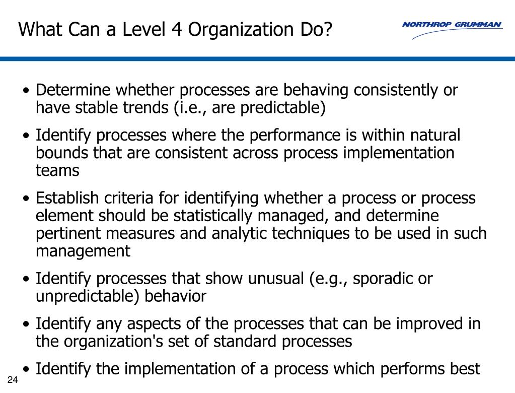 What Can a Level 4 Organization Do?