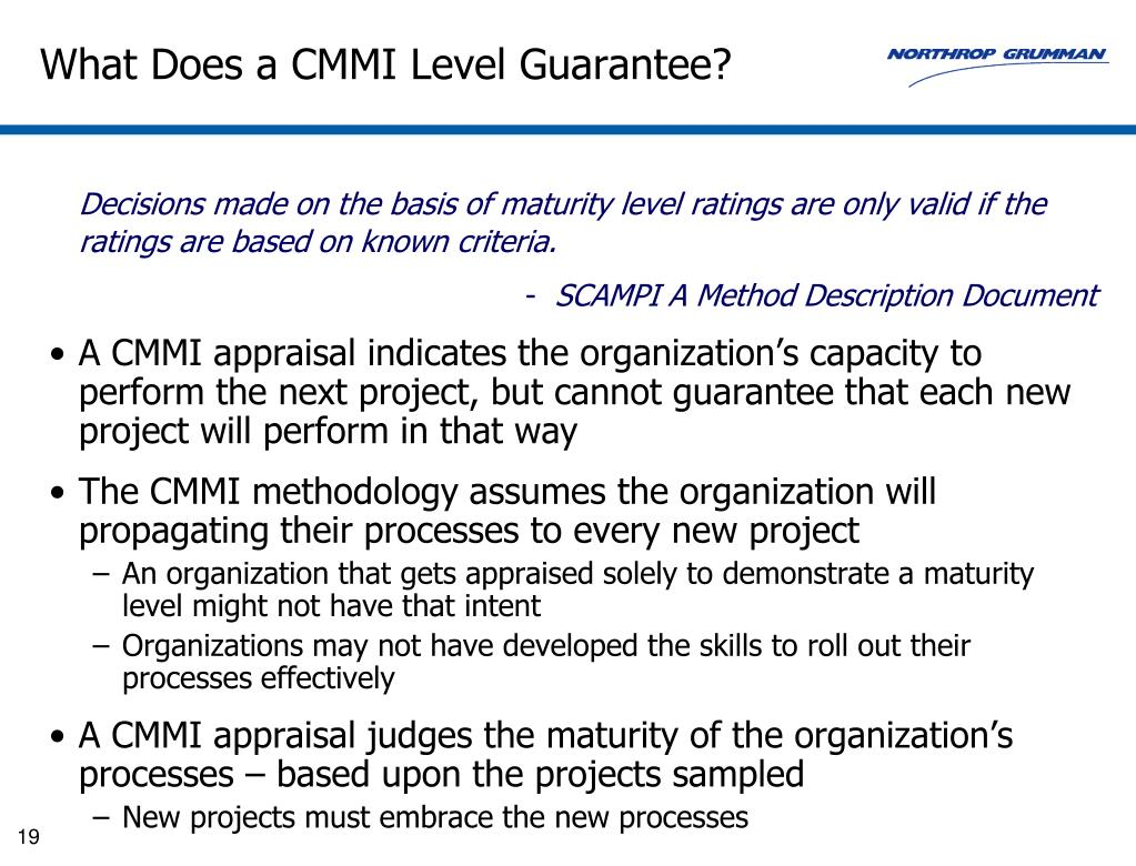 What Does a CMMI Level Guarantee?