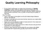 quality learning philosophy