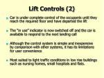 lift controls 2