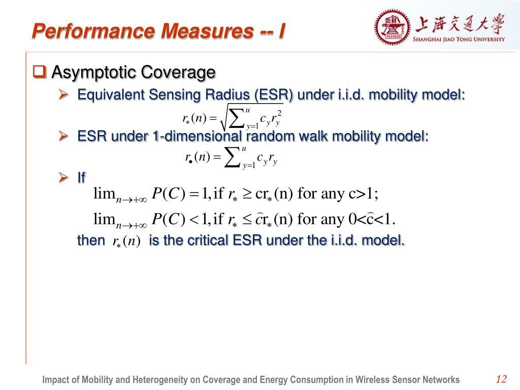 Performance Measures -- I