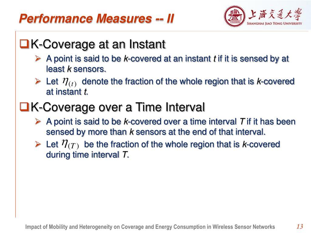 Performance Measures -- II