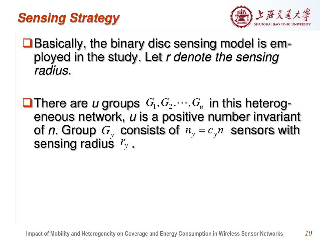 Sensing Strategy