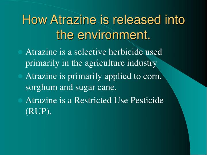 How atrazine is released into the environment