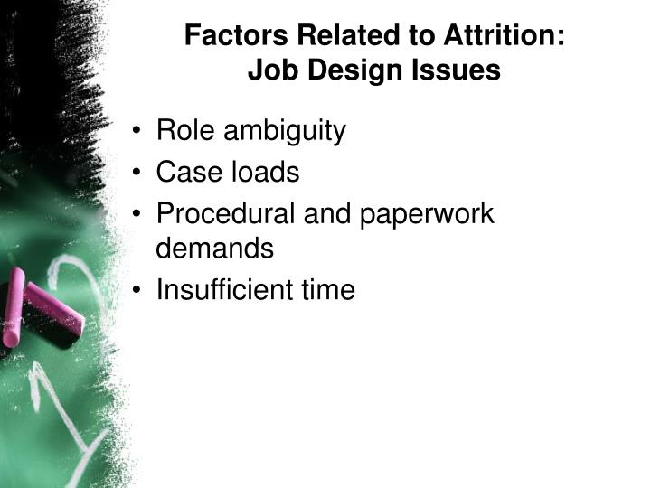 Factors Related to Attrition: