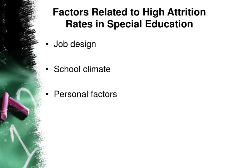 Factors Related to High Attrition Rates in Special Education