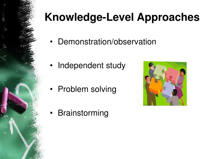 Knowledge-Level Approaches