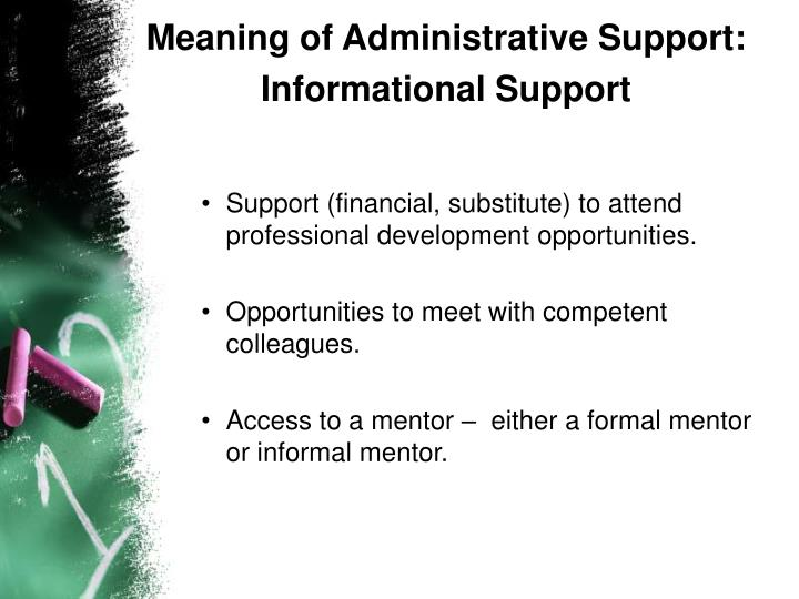 Meaning of Administrative Support: Informational Support