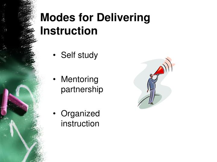 Modes for Delivering Instruction