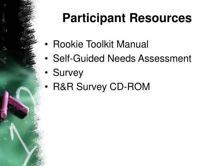 Participant Resources