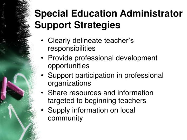 Special Education Administrator Support Strategies