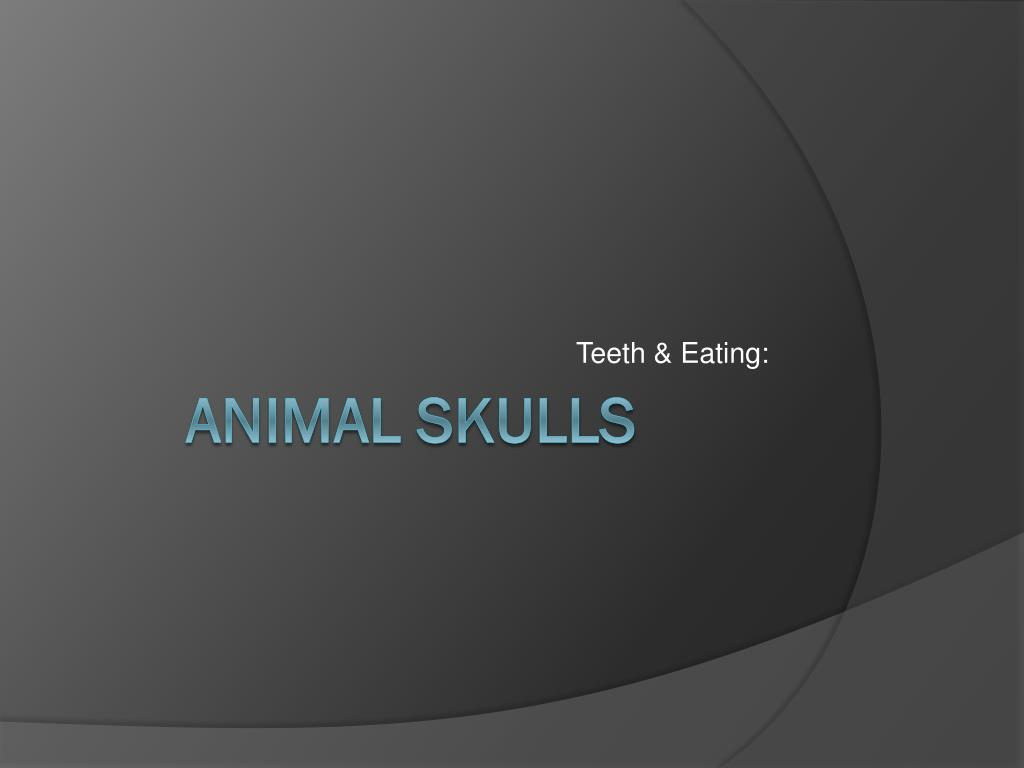 Teeth & Eating: