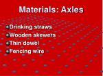 materials axles