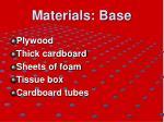 materials base