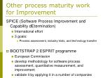 other process maturity work for improvement