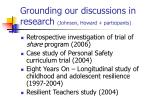 grounding our discussions in research johnson howard participants8