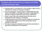 problems with enforcement of federal and state anti discrimination laws