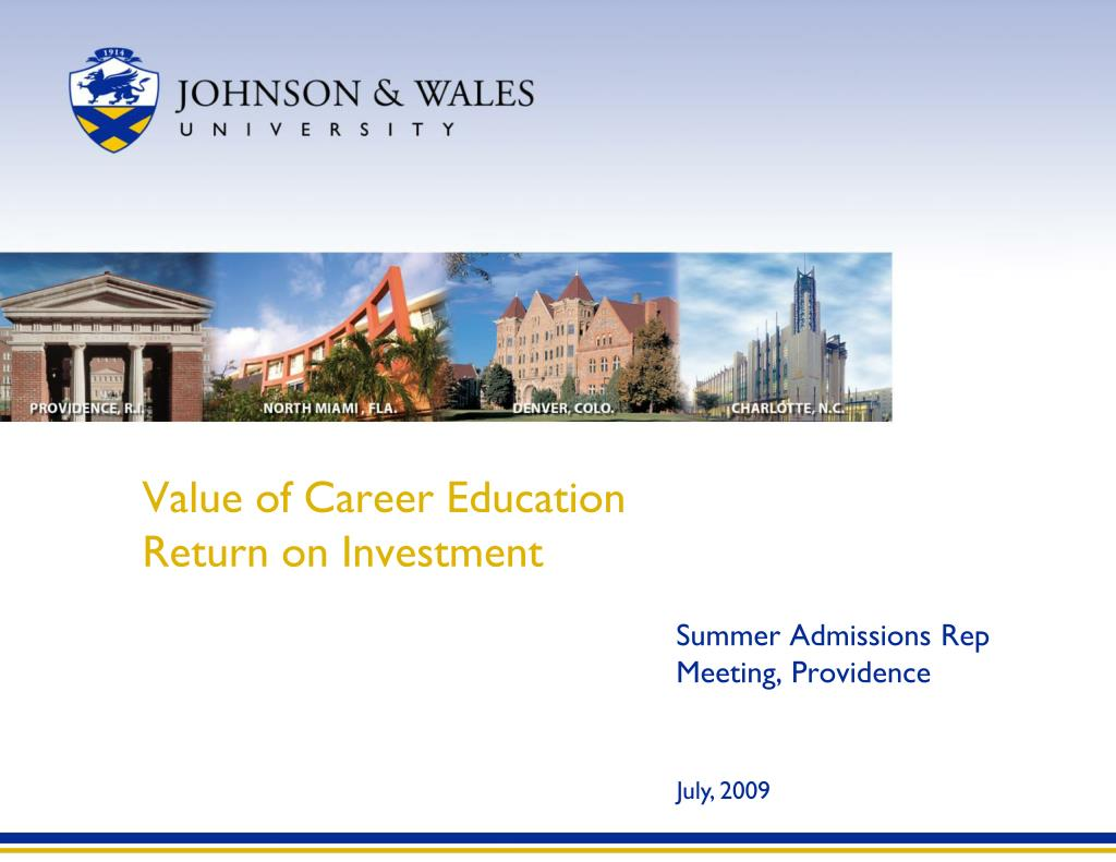 value of career education return on investment l.