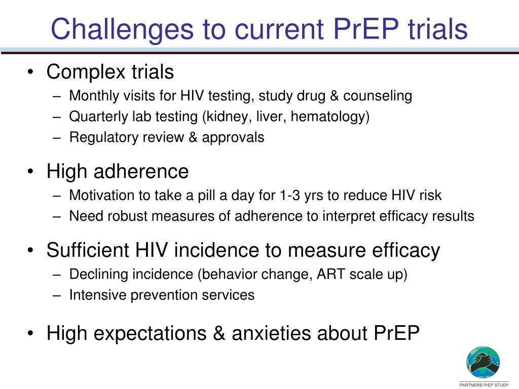 Challenges to current PrEP trials