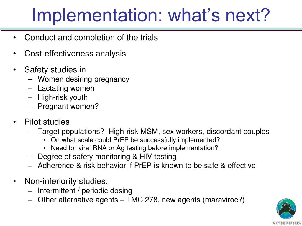 Implementation: what's next?