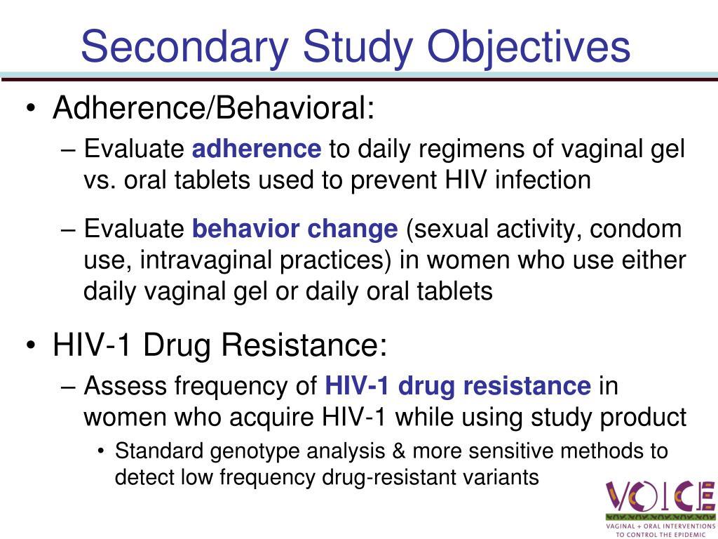 Secondary Study Objectives