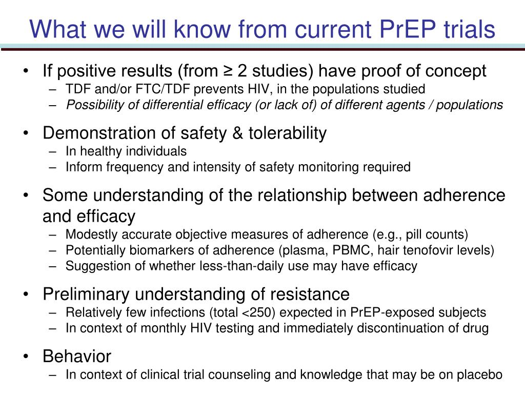 What we will know from current PrEP trials