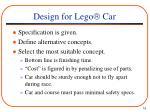 design for lego car