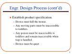 engr design process cont d