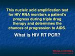 what is hiv rt pcr