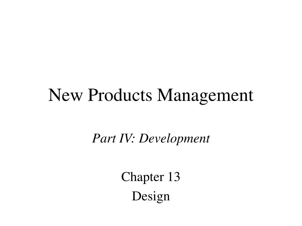 new products management l.