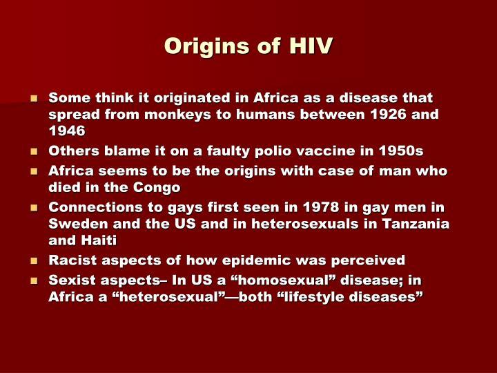 Origins of hiv