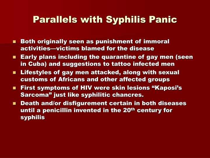 Parallels with syphilis panic