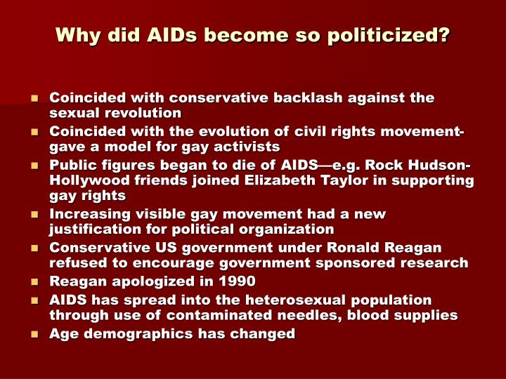 Why did AIDs become so politicized?