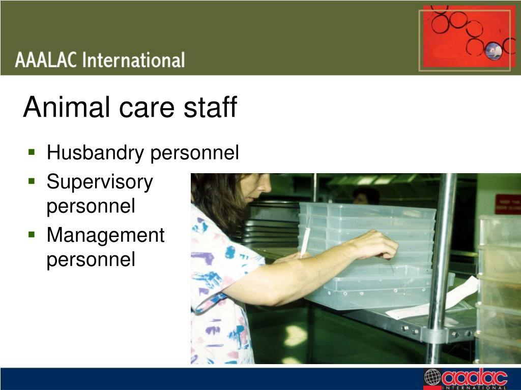 Animal care staff