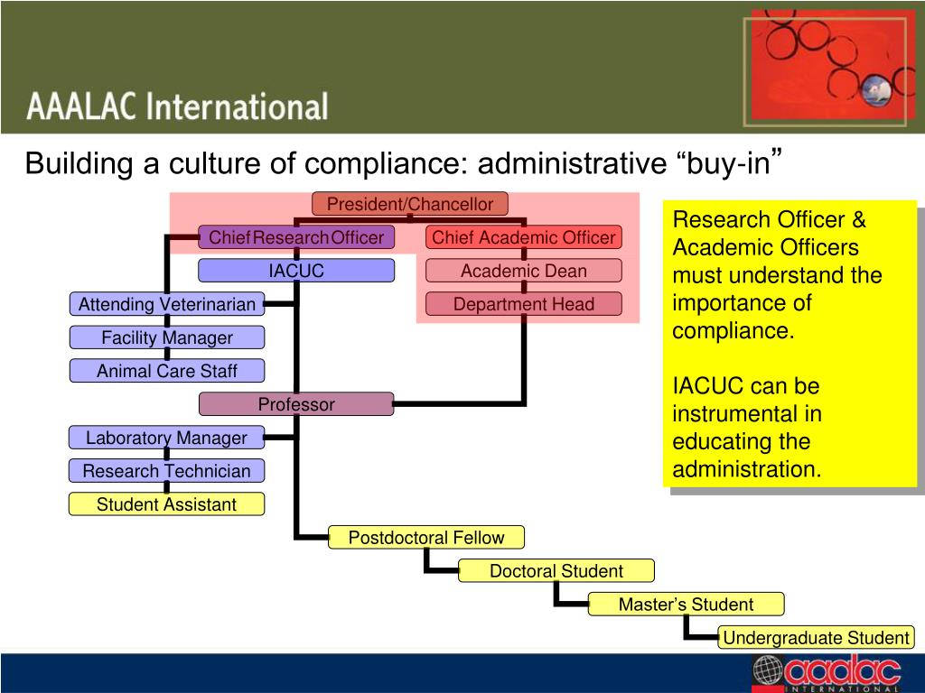"""Building a culture of compliance: administrative """"buy-in"""