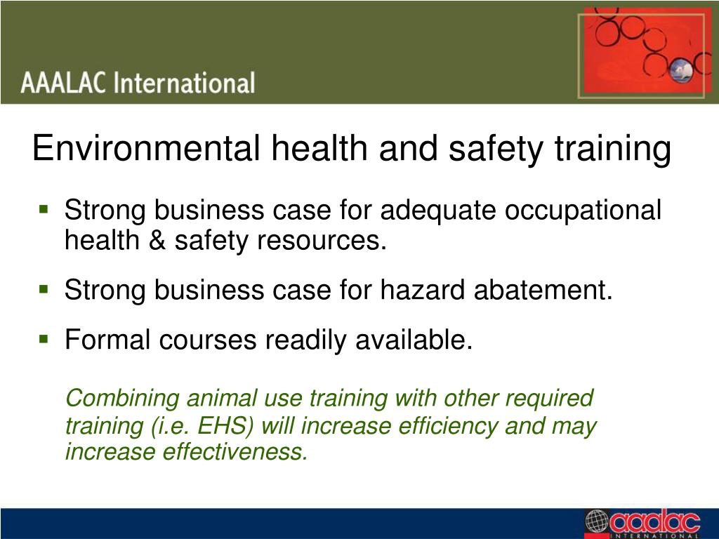 Environmental health and safety training