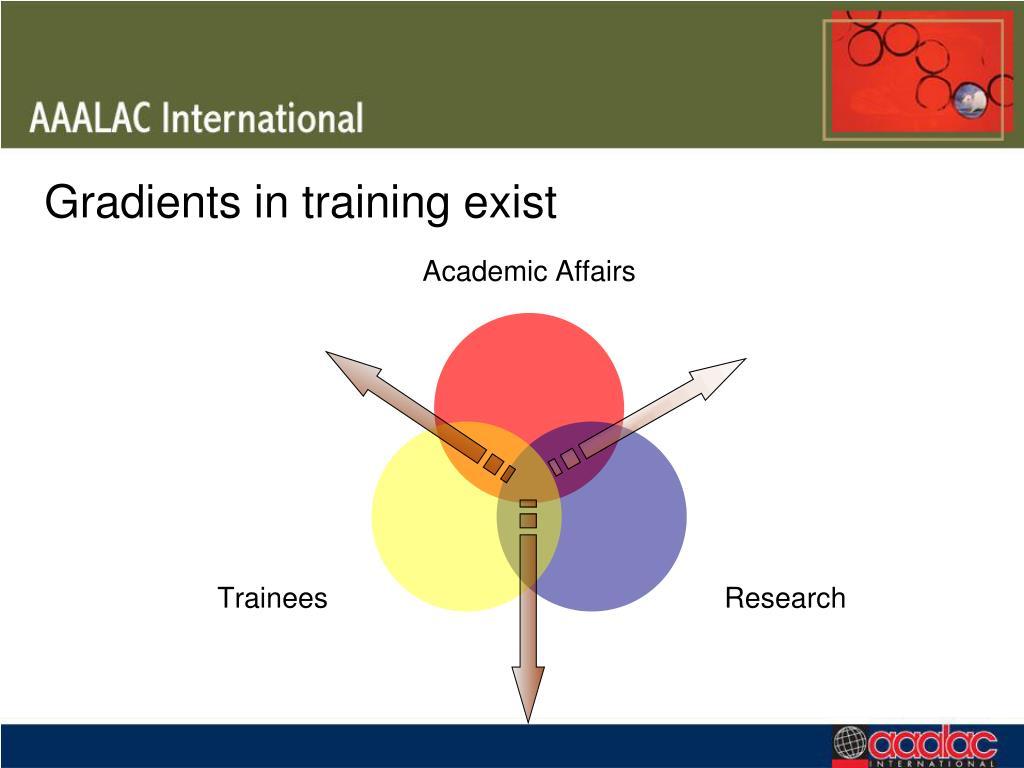 Gradients in training exist