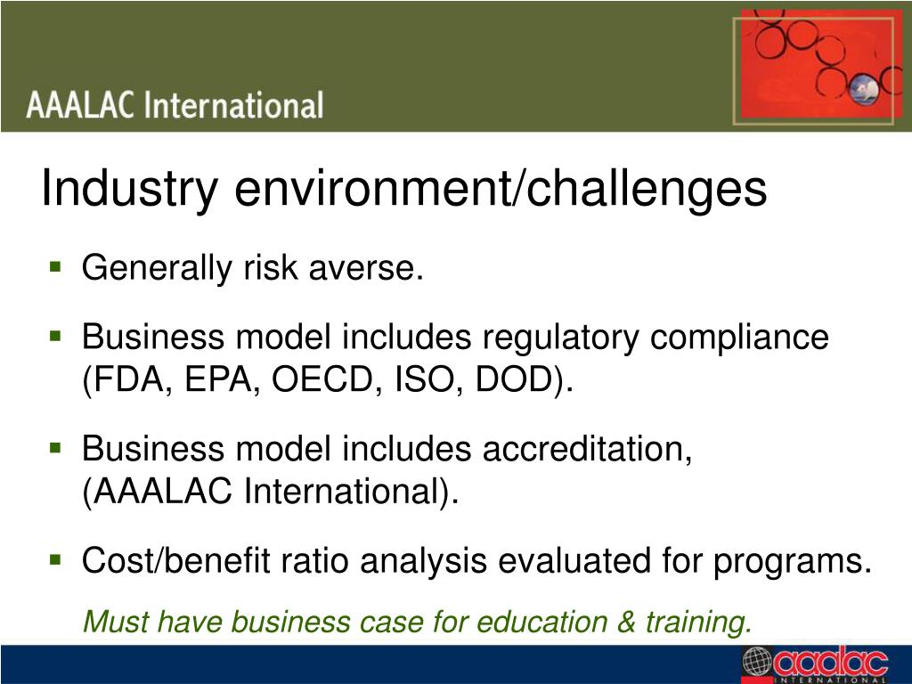 Industry environment/challenges