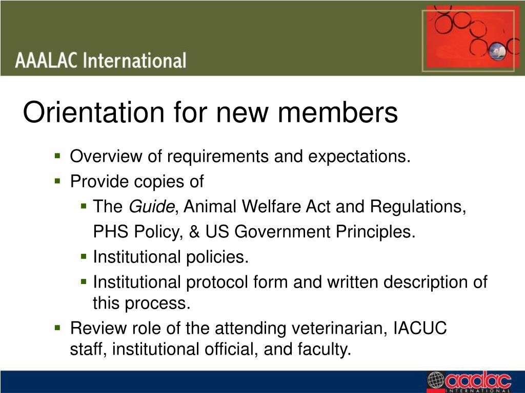 Orientation for new members