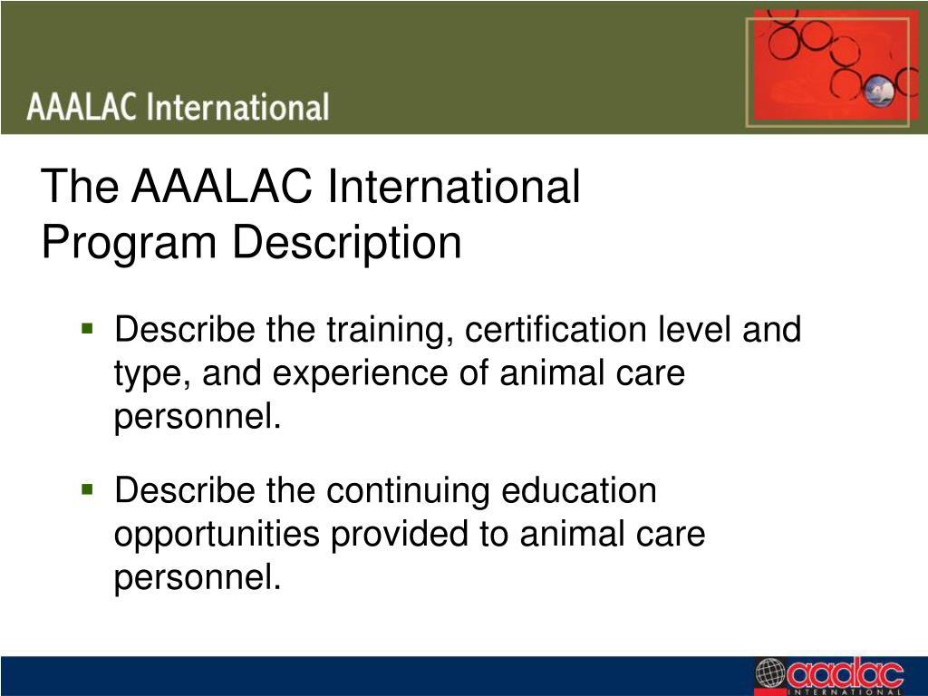 The AAALAC International