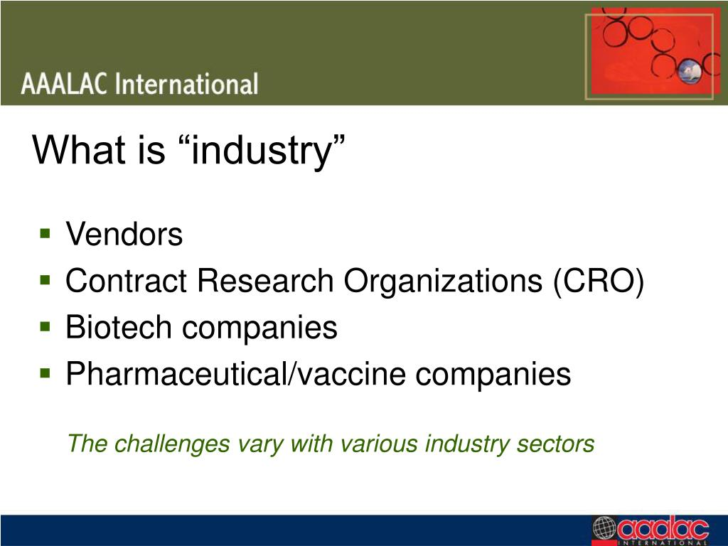 """What is """"industry"""""""