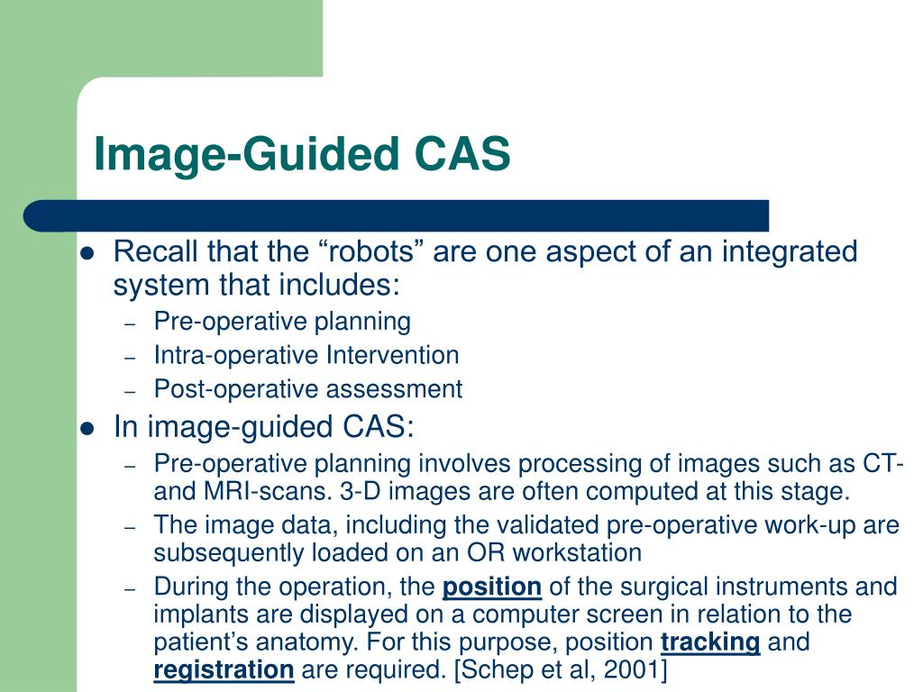 Image-Guided CAS