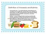 definition of anorexia and bulimia