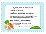 symptoms of anorexia