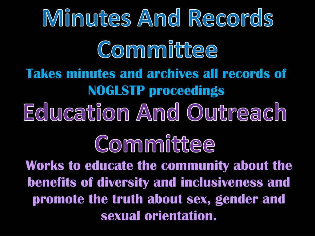Minutes And Records Committee