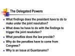 the delegated powers
