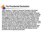 the presidential declaration